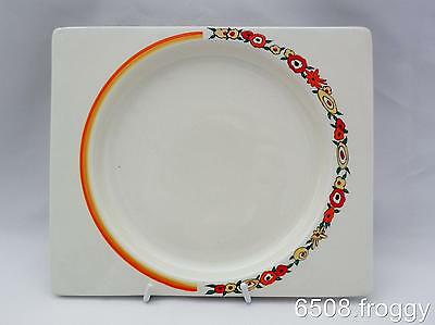 Early *Biarritz* Signed Bizarre CLARICE CLIFF - Square ORANGE WREATH plate!