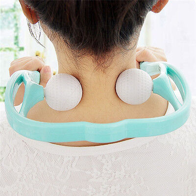 US Neck Back Shoulder pain Massager Body Parts Roller Ball Self-massage Tool New