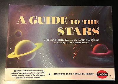 A GUIDE TO THE STARS Rare 1951 AMOCO American Oil Company Fold-Out Book