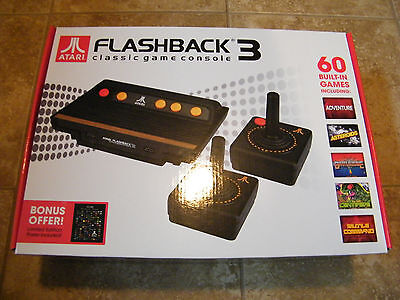 Atari Flashback 3 Classic Video Game Console w/ 60 Built-In Games