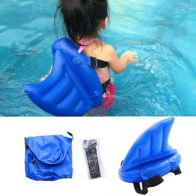 Kids Learning To Swim Pool Float Shark Fins Swimming Floats Water Summer Toys