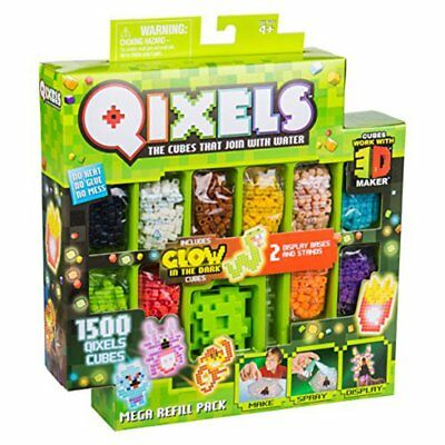 Qixels Season 4 Mega Refill Pack (3D) 1500 Cube With Glow In the Dark