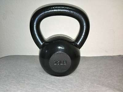Super Fitness powder coated Kettlebell Solid Cast Iron Gym Workout Weight 25 lbs