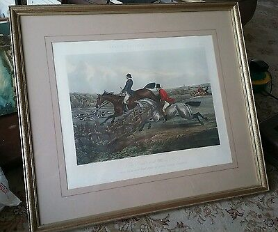 Antique framed Fores  hunting print plate 4 The Right and Wrong Sorts,H  Alken
