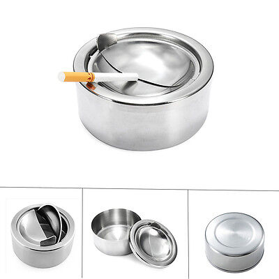 Hot Sale New WindProof Type of Stainless Steel Are Creative Smokeless Ashtray