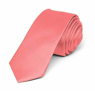 Coral satin tie for kids boy toddler or baby