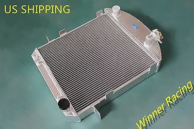 Fit Ford Model T/bucket hot rod w/Chevy 350 V8 1917-1927 70MM Aluminum Radiator