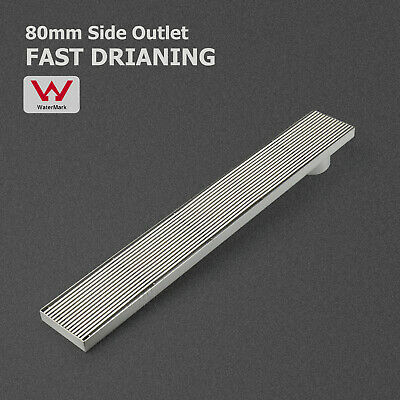 100/700/800/900/1000/1200mm Shower Grate Floor Drain Waste Linear 80mm Outlet