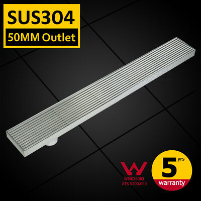 100/700/800/900/1000/1200mm Shower Grate Drain Floor Waste Linear 50mm Outlet