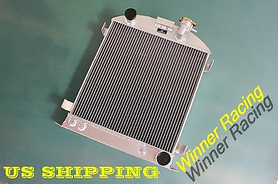 "Aluminum Alloy Radiator Fit Ford 1932 hot rod 3"" chopped w/Chevy 350 V8 engine"