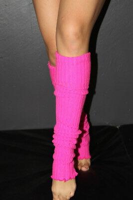 Pole Dance Gym Extra long Stirr-up Knit Legwarmers Candy