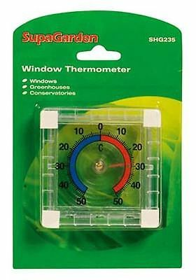 Supagarden Indoor Outdoor Window Thermometer Greenhouse Conservatory