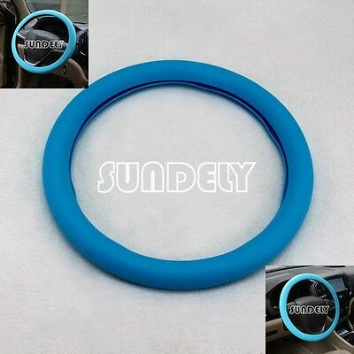 New Car steering wheel cover WHEEL Leather Texture Soft Cover Skin HOT Blue