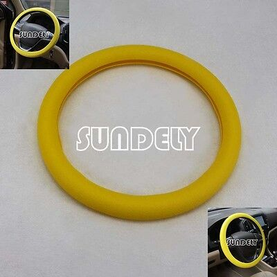 New Car steering wheel cover WHEEL Leather Texture Soft Cover Skin HOT Yellow