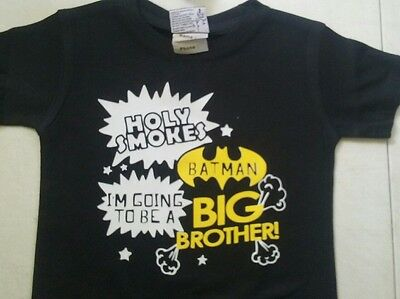 BATMAN Going to be a BIG BROTHER T-Shirt - NEW Pregnancy Announcement Boys BABY