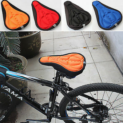 GD Bicycle 3D Silicone Saddle Seat Soft Pad Cycling Bike Cover Gel Cushion Cover