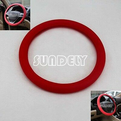 Brand new Car steering wheel cover 36cm - 40cm Silicone Soft Cover, Red