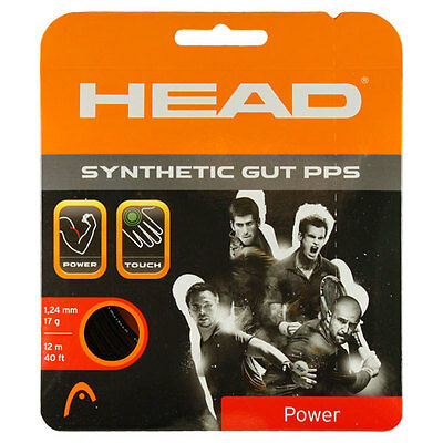Head Synthetic Gut PPS 17g Black Tennis String 16g 12.2m