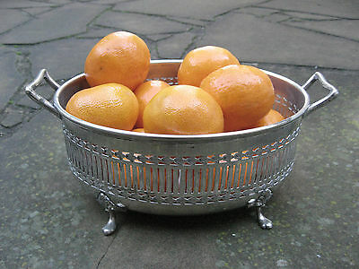 Silver Plated 4 Footed Fruit Storage Bowl EPNS Made in England