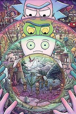 Rick And Morty TV Animation Digital Art Poster T475
