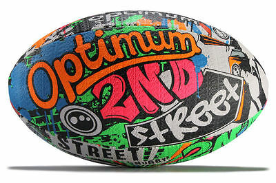 Rugby Balls - Optimum Street - Size 3 Size 4 Size 5 Mini - Colourful Gift Ball