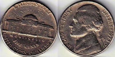 USA 5 Five cent coin Nickel 1973
