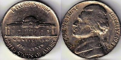USA 5 Five cent coin Nickel 1981
