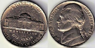 USA 5 Five cent coin Nickel 1983