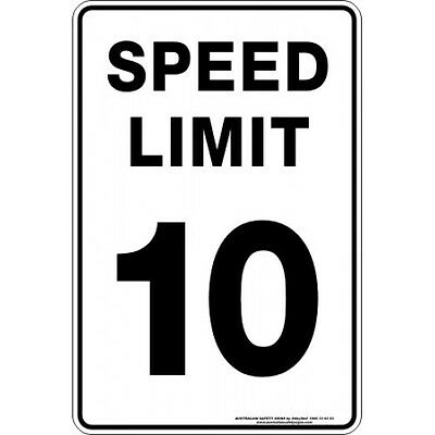 Safety Sign - SPEED LIMIT 10