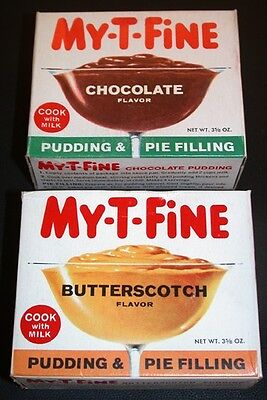 VINTAGE 1950's 2 Full Boxes MY-T-FINE PUDDING & PIE FILLING  OLD STORE STOCK nos