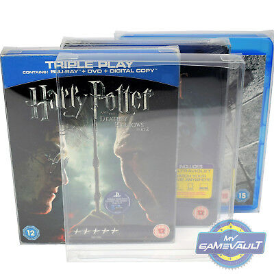 100 Blu Ray Box Protector STRONG 0.4mm PET Plastic Case FIT Steelbook,Slipcover