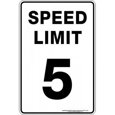 Safety Sign - SPEED LIMIT 5