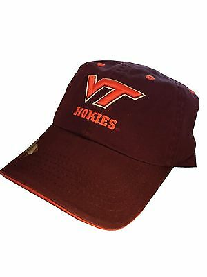 new arrival 4be54 6c661 New NWT Ladies Womens NCAA Maroon Virginia Tech Hokies Baseball Hat Cap  Headgear