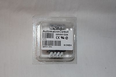Automation Direct QM4N1-D24 Ice Cube Relay Plug In 24VDC 4 Pole 3 Amp 14 Pin NEW