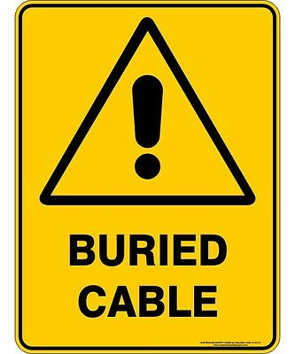 Safety Sign - BURIED CABLE