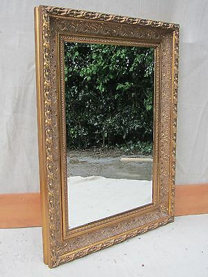 Large Edwardian Beveled glass Mirror in a Rococo style wooden frame