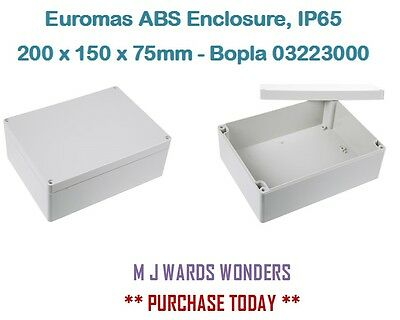 Euromas ABS Enclosure, IP65, 200 x 150 x 75mm - Bopla 03223000