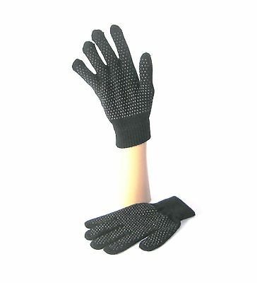 New Gripper Gloves GRIP TREAD PVC COTTON INSULATED KIDS TEENS STRETCHY