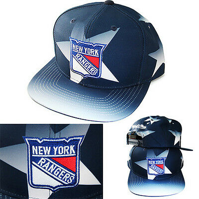 f421e9d9426e58 Mitchell & Ness NHL New York Rangers Snapback Hat Classic Blue Star Pattern  Cap