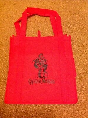 "CAPTAIN MORGAN Reusable Red Shopping Bag  ""To Life, Love and Loot."""