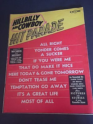 Vintage 1955 Hillbilly and Cowboy Hit Parade Complete Words & Music Magazine