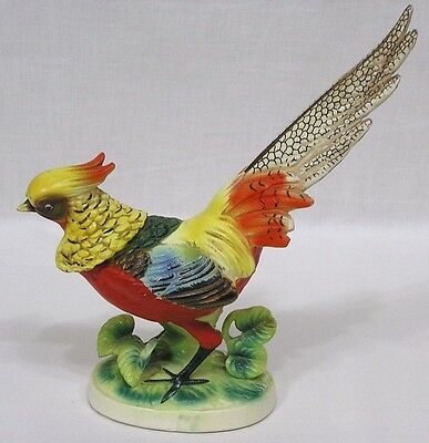 Vintage Ceramic Golden Pheasant Figurine Awesome!