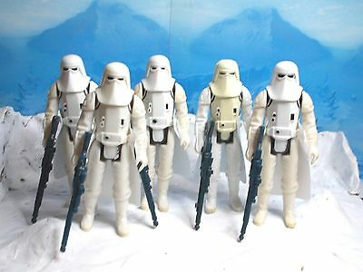 Vintage Star Wars Imperial Snowtroopers Hoth x 5