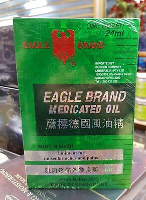 EAGLE BRAND Medicated Oil 24ml x 12 PACK Pain Relief Muscle Arthritis Joint MELB