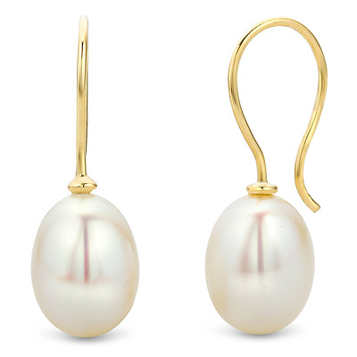 Miore Gold Earrings 9 ct Yellow Gold Pearl Drops