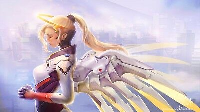 Overwatch Mercy Blizzard Game Poster Print T526 |A4 A3 A2 A1 A0|