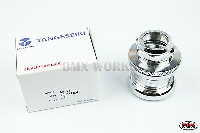 Tange Chrome AW27 Headset with Stamped Top Nut - Suit Old School BMX