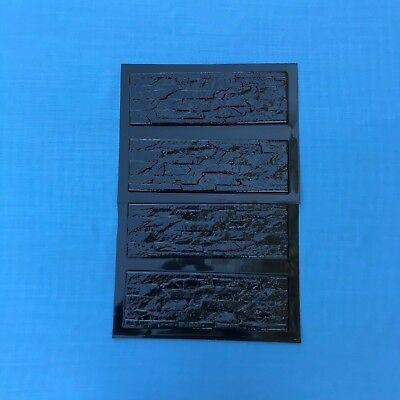 4 pcs Plastic molds NATURAL STONE MURANO for concrete plaster wall brick tiles