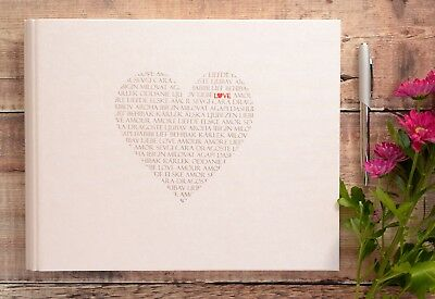 Wedding Guest Book. Wedding Photo Guest Book. Love Heart Wedding Guest Book.