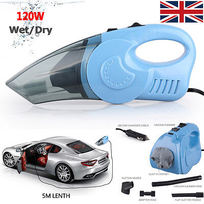 120W Handheld Vacuum 12V Hoover Wet&Dry Automatic Car Cleaning Dust Collector UK